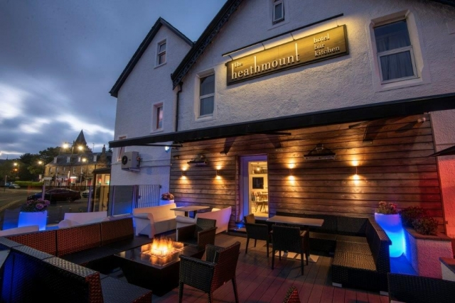 The heated patio at The Heathmount Hotel